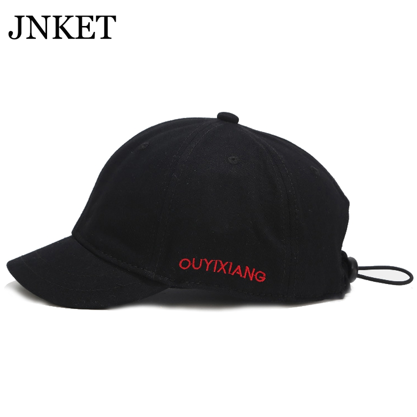 JNKET New Unisex Short Visor Baseball Cap Embroidery Baseball Hat Adjustable Snapback Hats Casquette