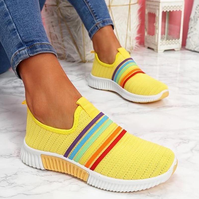 Women Rainbow Color Sneakers Woman Vulcanized Women