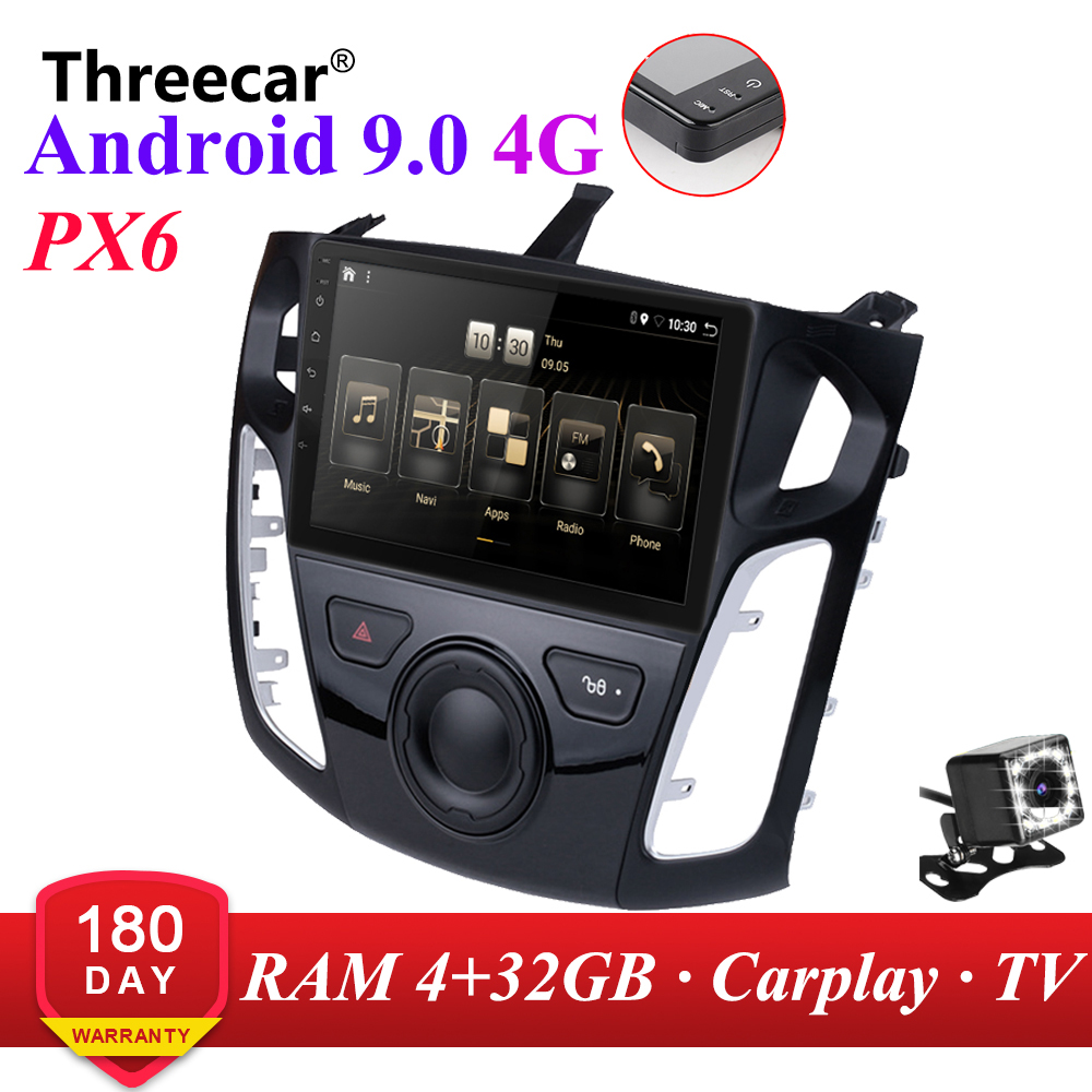 PX6 <font><b>Android</b></font> 9.0 DSP Auto Radio 2011 2012 2013-2015 <font><b>Ford</b></font> Focus 3 Multimedia Video Player Navigation GPS wifi 4G OBD SWC <font><b>2din</b></font> image