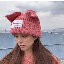 2020冬skulliesかわいい女性キツネ帽子編み帽子衣装ビーニー帽子写真プロップパーティー女性ギフトヒップホップキャップ
