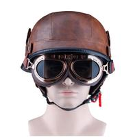 2019 새로운 오토바이 헬멧 반 얼굴 베스파 투구 모토 빈티지 레트로 cascos 파라 모토 독일어 솔더 도트