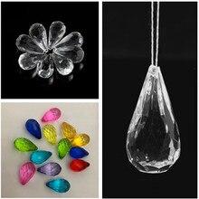 20 pçs/lote pendurado pingente de diamante lustre de cristal acrílico grânulos festa casamento casa decoração diy