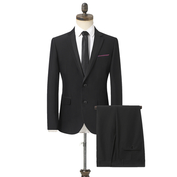 2020 New Men Business Slim Suits Sets Wedding Dress Two-piece Suit Blazers Coat Trousers Waistcoat