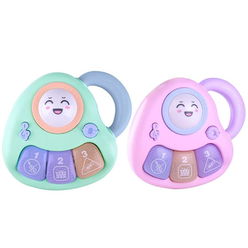 Cute Handle Three-key Baby Musical Instrument Piano Battery Puzzle Toys Developmental Educational Toy For Baby Infant