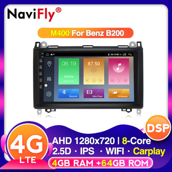 Android 10.0 2.5D IPS Car radio player gps navigation for Mercedes Benz B200 A B Class W169 W245 Viano Vito W639 Sprinter W906 image