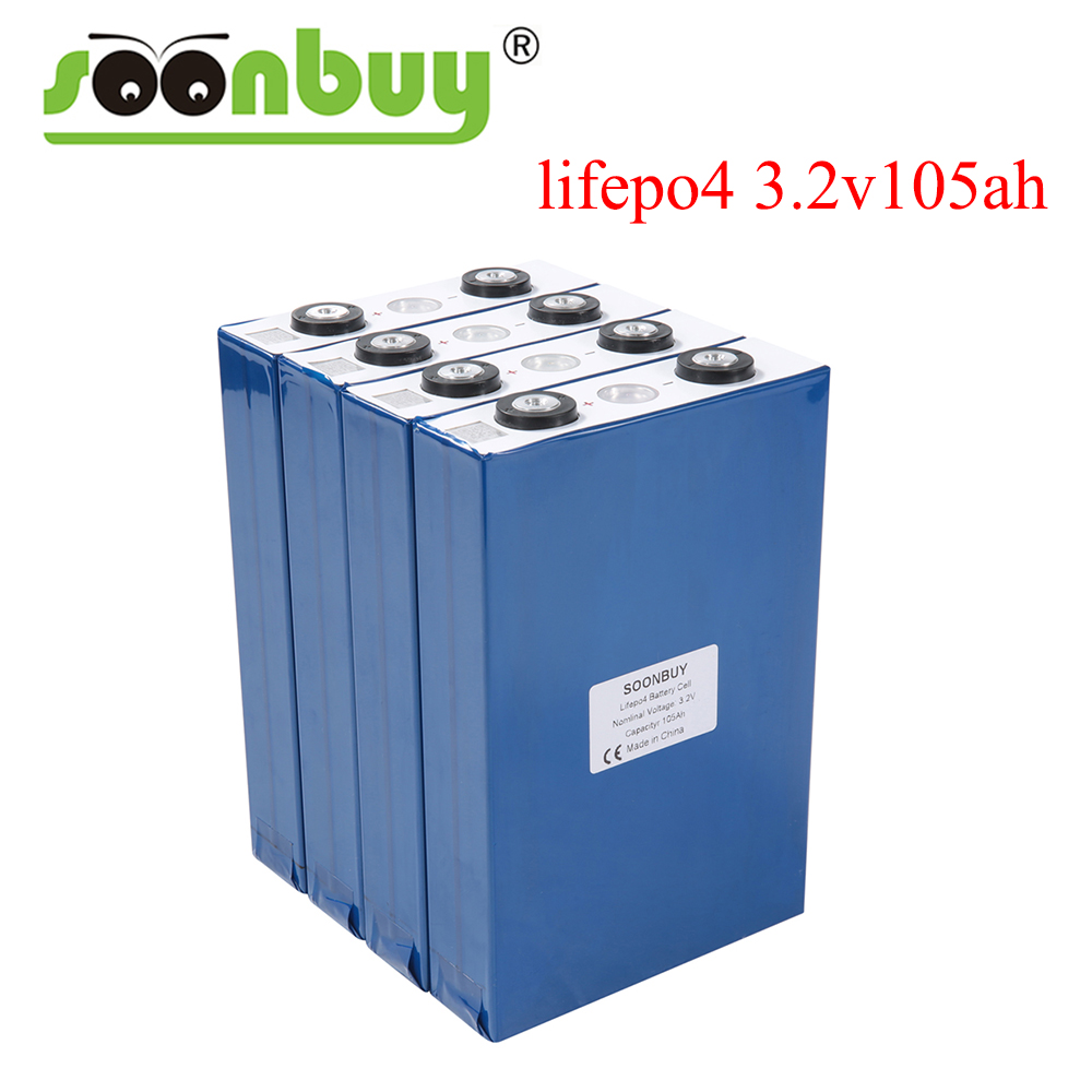 4PCS 3.2v 105Ah lifepo4 <font><b>lithium</b></font> <font><b>battery</b></font> no 3.2v <font><b>100AH</b></font> lifepo4 for DIY <font><b>12V</b></font> 24V 48V vehicle Solar energy storage boat backup power image