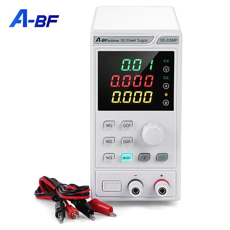 Программируемый источник постоянного тока Питание переменной 30V/5A Регулируемый с высокой точностью памяти Функция 4 знака после запятой Ди...