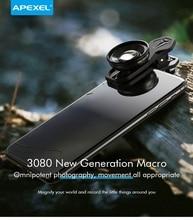 APEXEL 30 80mm Super Makro Objektiv Handy Kamera Objektiv HD Optic Makro Lentes für iPhone 7 8 XR xs huawei xiaomi Alle smartphone