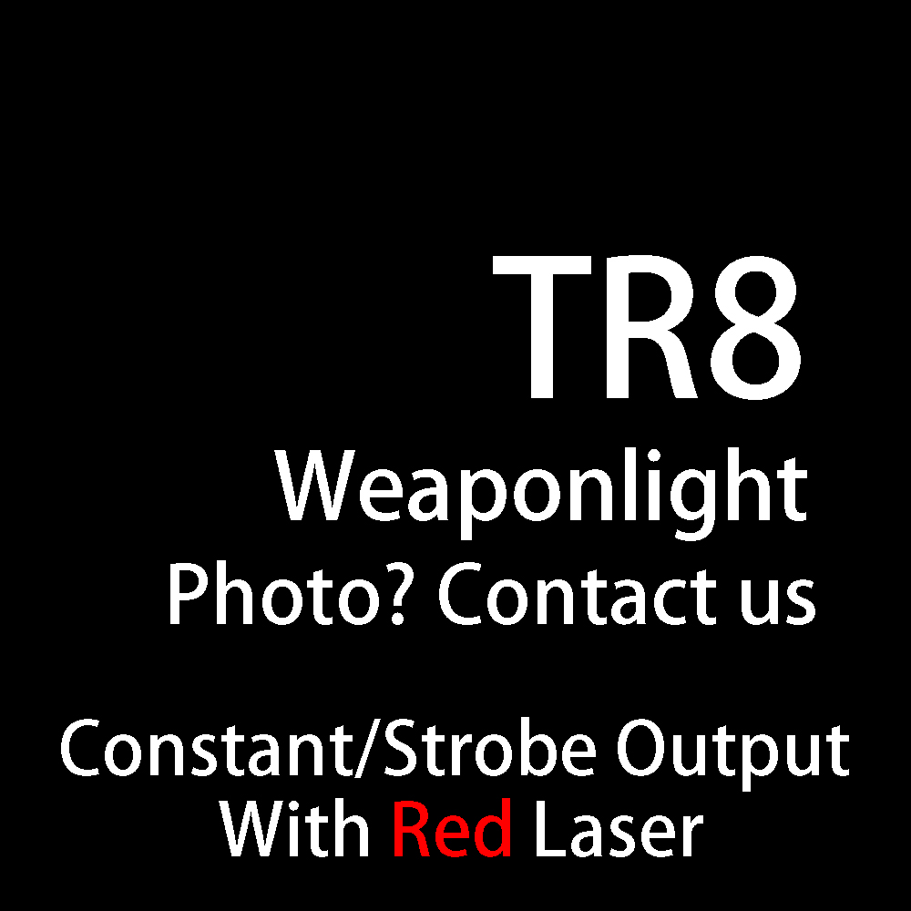 Tactical TLR Fullsize LED Weapon Light With Red Laser Sight For Pistol Hunting Glock 1 8 Laser Flashlight