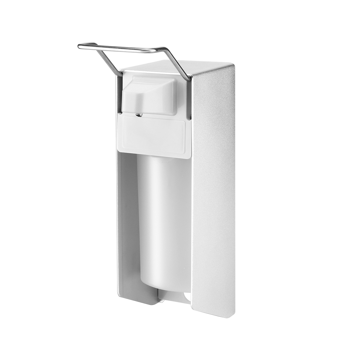 H2fbe8a0685124ef4b0a004db9c4b91a5C Wall-Mount Liquid Soap Dispenser Pump Hospital Elbow Press Hand Sanitizer Soap Dispenser Bottle For Kitchen Hotel Bathroom