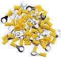 100 шт 10-12AWG изолированные клеммы кольцо электрические провода обжимные разъемы (желтый-M8) (желтый-M8)