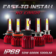 car light h7 led bulb auto Car headlight Lamp H4 LED H11 H7 H8 H9 H1 Headlamps Kit 9005 HB3 9006 HB4 9012 100w 10000LM