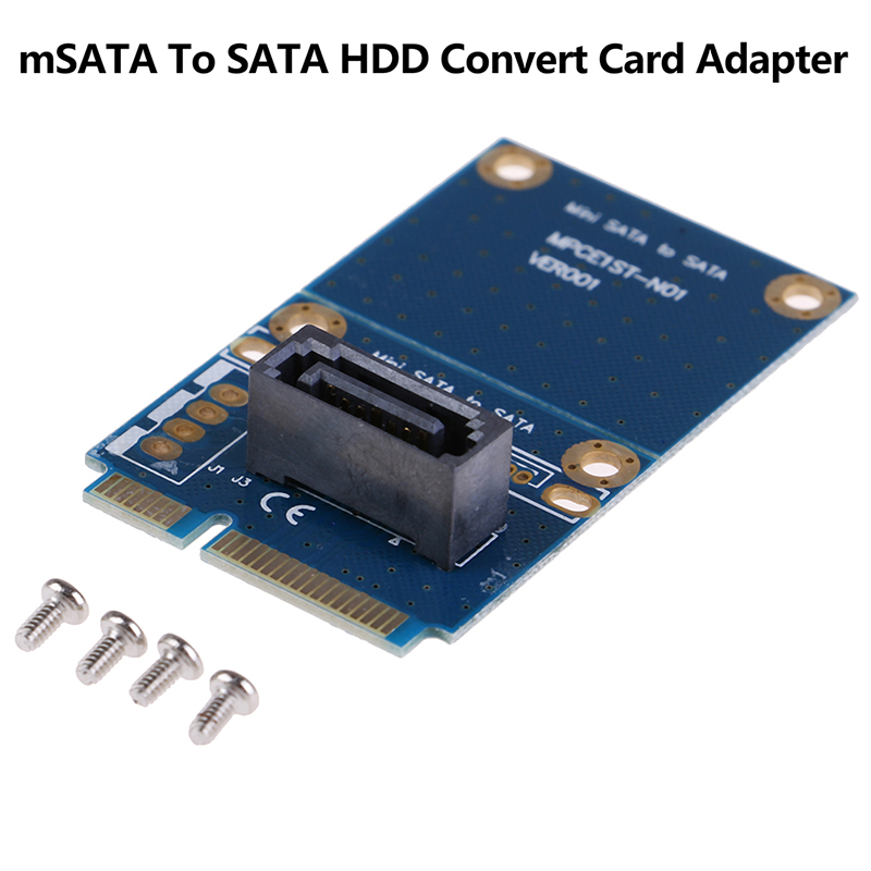 <font><b>mSATA</b></font> Mini PCI-e Express <font><b>SATA</b></font> SSD Slot To 7 Pin <font><b>SATA</b></font> HDD Convert Card <font><b>Adapter</b></font> image