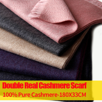 100% Pure Cashmere Scarf Shawl for Women Men Solid Scarf Cashmere Winter Warm Double Cashmere Scarves Men for Winter Accessories