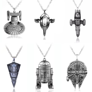 Classic Movie Star Wars Robot R2D2 Pendants & Necklace Cosplay Game Necklace Jewelry Use Beer Botter Opener BB8 Pendant(China)