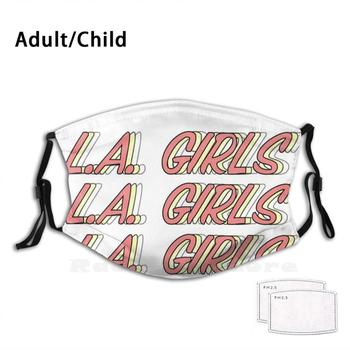 L.a. Girls Repeat Mask Print Washable Filter Funny Mouth Charlie Puth Charlie Otto Puth Voicenotes Voicenotes Album La Girls image