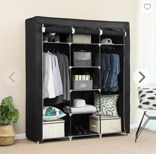 Non-woven Cloth Wardrobe Folding Clothes Storage Cabinet  Dust-proof Moisture-proof Closet Bedroom Multipurpose Cabinet HWC