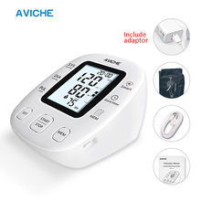 AVICHE מקצועי אוטומטי דיגיטלי זרוע לחץ דם צג LCD עם תאורה אחורית תצוגת מדבר רפואי מכשיר מד לחץ דם