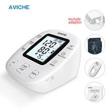 Avicheプロ自動デジタル腕血圧モニターバックライトlcdディスプレイトーキング医療機器血圧計