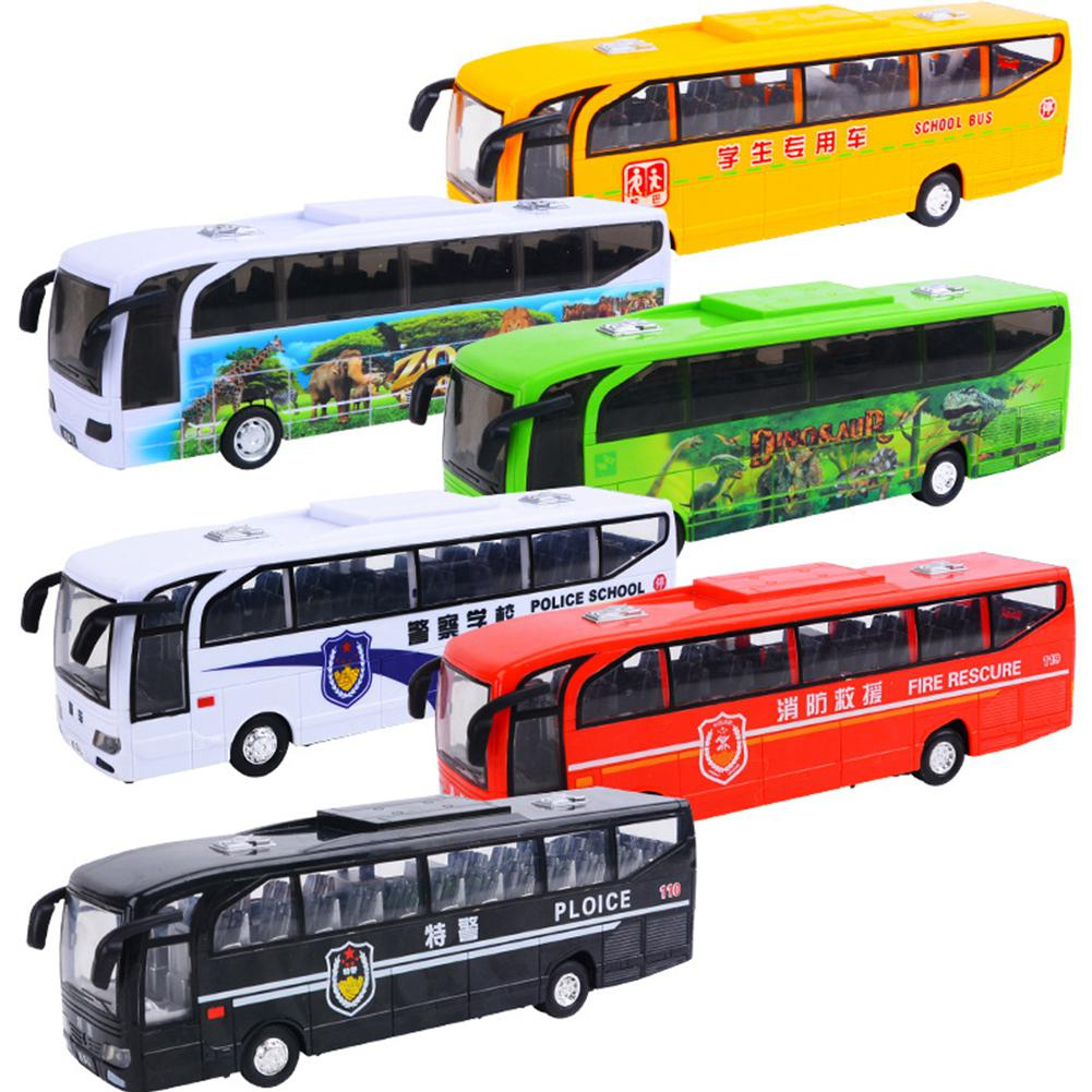 RCtown Children Simulation School Bus Model Kindergarten Big Bus With Lights Music Inertial Car
