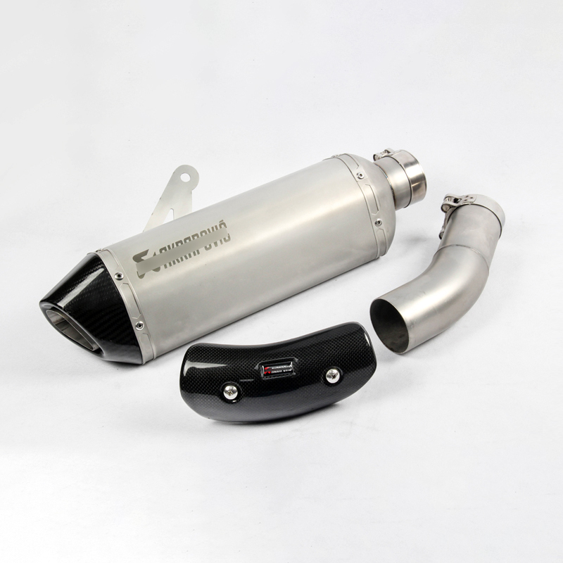 61mm For 2015 2016 S1000RR <font><b>S1000R</b></font> <font><b>Exhaust</b></font> Pipe For BMW Motorcycle <font><b>Exhaust</b></font> Muffler Pipe Mid Middle Pipe Tail Escape Carbon Cover image