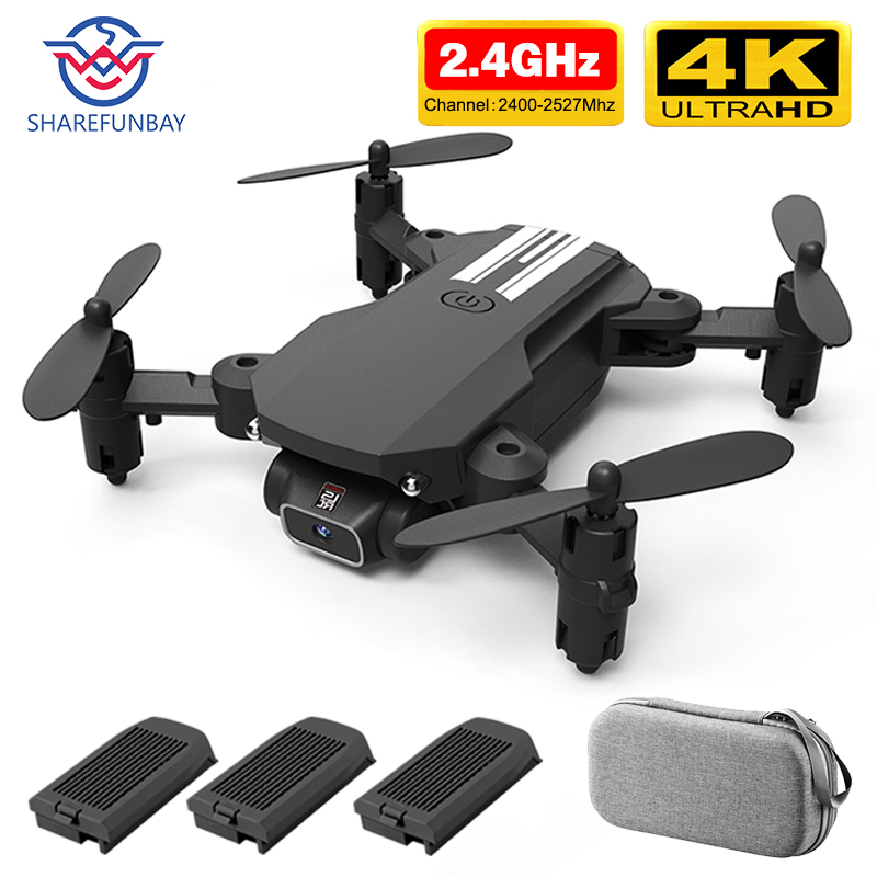 SHAREFUNBAY drone 4k HD wide angle camera wifi fpv drone height keeping drone with camera mini drone video live rc quadcopter(China)