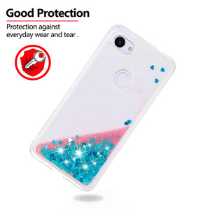Image 2 - Luxe Liquid Quicksand Soft TPU Phone Case Voor Google Pixel 3a XL 3a Case Back Cover Glitter Bling Sequin Dynamische bumper Coque