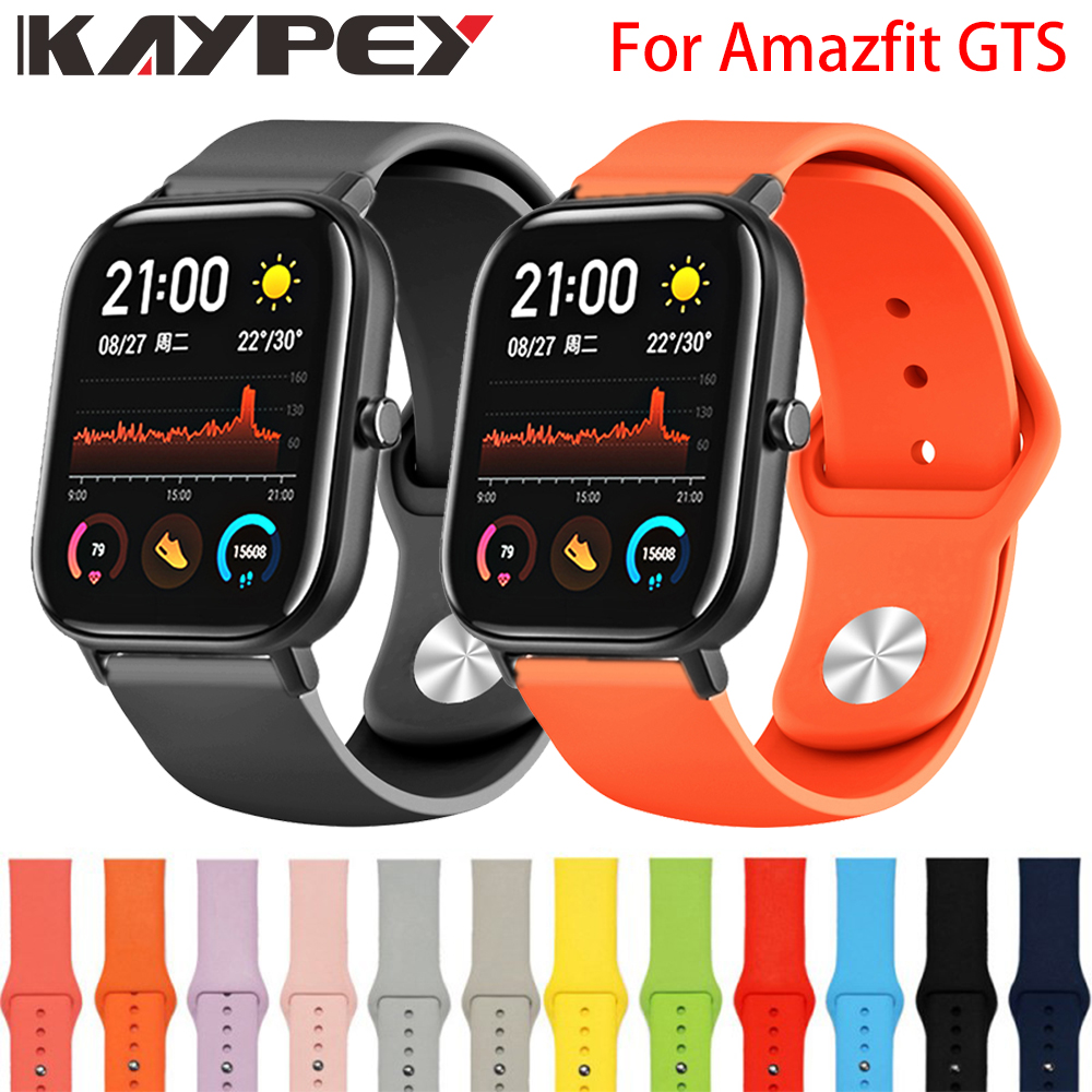 Silicone Watchband Strap For Xiaomi Huami Amazfit GTS Smart Watch Band For Amazfit GTR 42mm Bracelet Sport Replacement Wristband