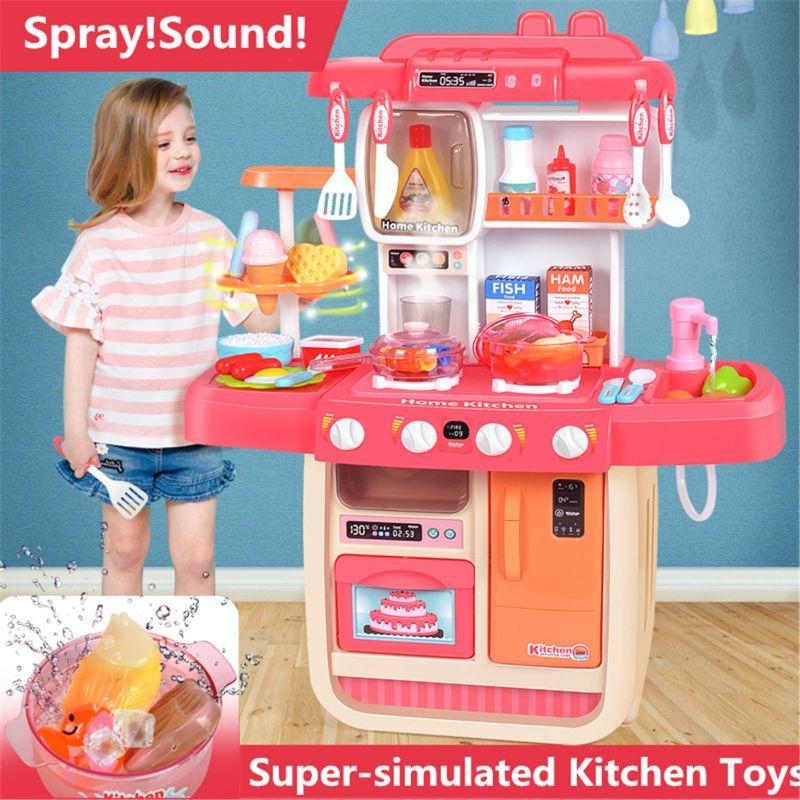 Simulation Spray Sound Pretend Play Kitchen Toy Kid Girl Xmas Christmas Gift 72XC