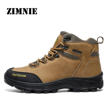 ZIMNIE 2020 Men Waterproof Hiking Shoes Breathable Tactical Boots Outdoor Climbing Shoes Non-slip Trekking Sneakers for Men