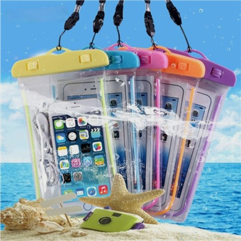 Bolsa resistente al agua para teléfono móvil, funda transparente de PVC para derrapar, nadar, bucear, surfear, playa, funda seca para teléfono móvil 1