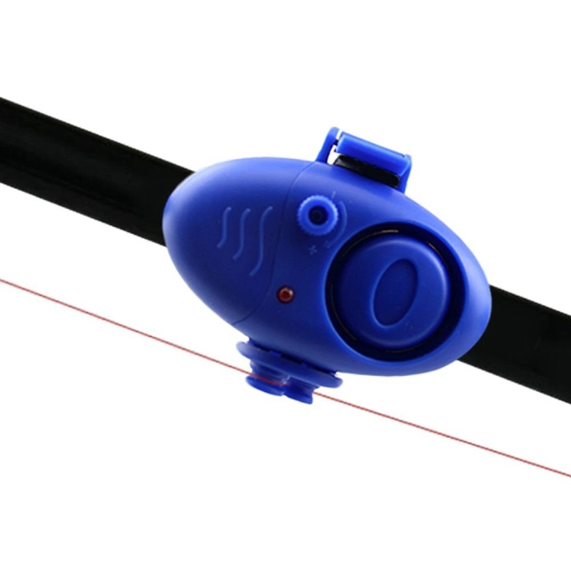 Outdoor Electronic Clip-on Fishing Fish Bite Alarm Finder Sound LED Alert Buzzer Tool -Blue