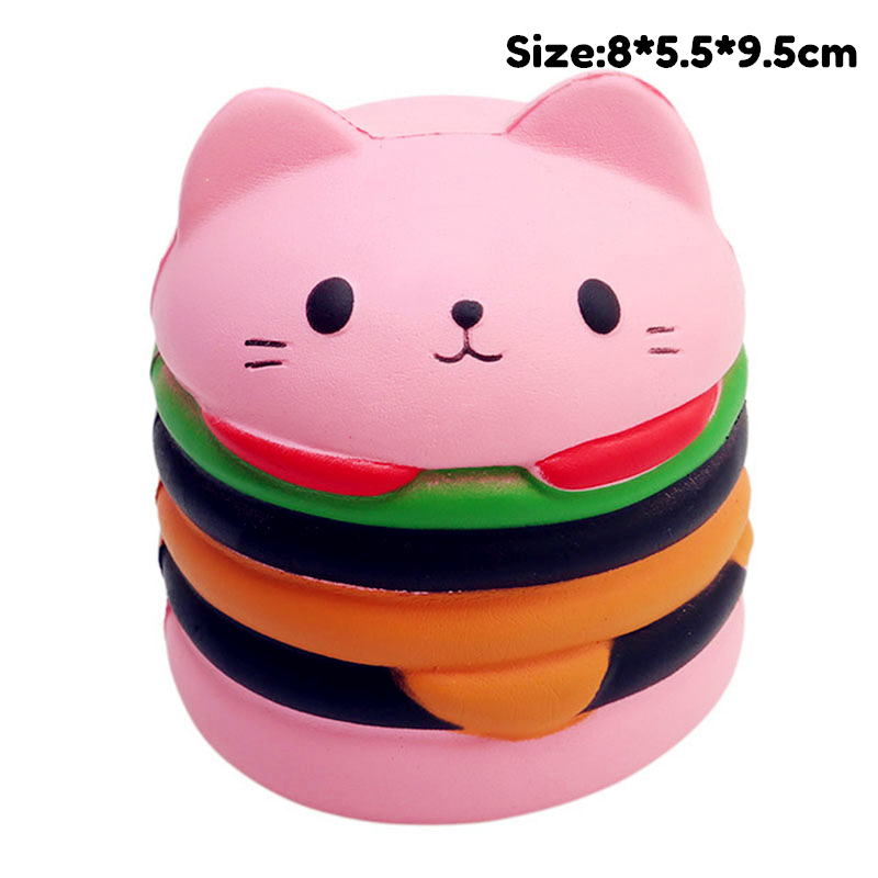 Antistress Squishy Toy Big Mac Hamburger Cake Slow Rising Squeeze PU Simulation Snack Stress Relief Kids Toys Birthday Gift