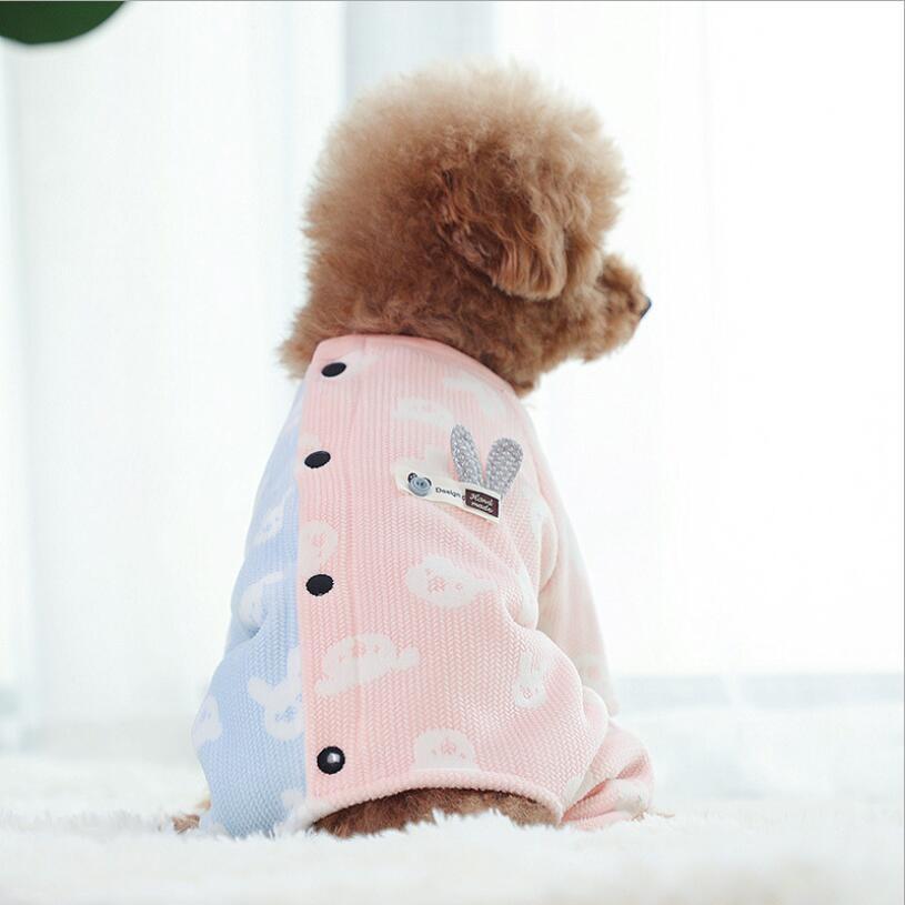Dog Pajamas Home Wear Teddy Four-legged Clothes Pet Clothes Fleece Dog Pjs XS S M L XL