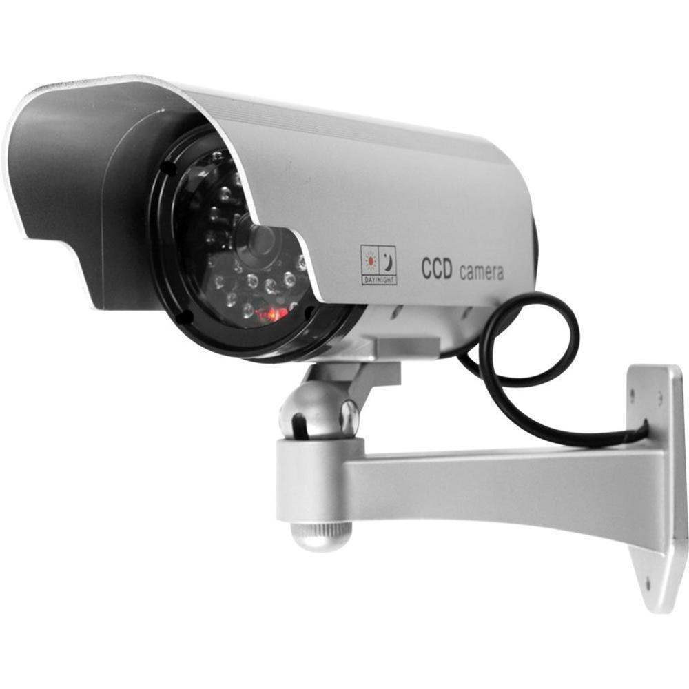 Solar Power LED CCTV Camera Fake Security Camera Outdoor Dummy Surveillance
