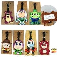 Action Spielzeug Geschichte 4 Forky Gepäck Tag Pvc Reise Paket Label Tags Buzz Lightyear Woody Und Lotso Spielzeug Für Kinder koffer Tag