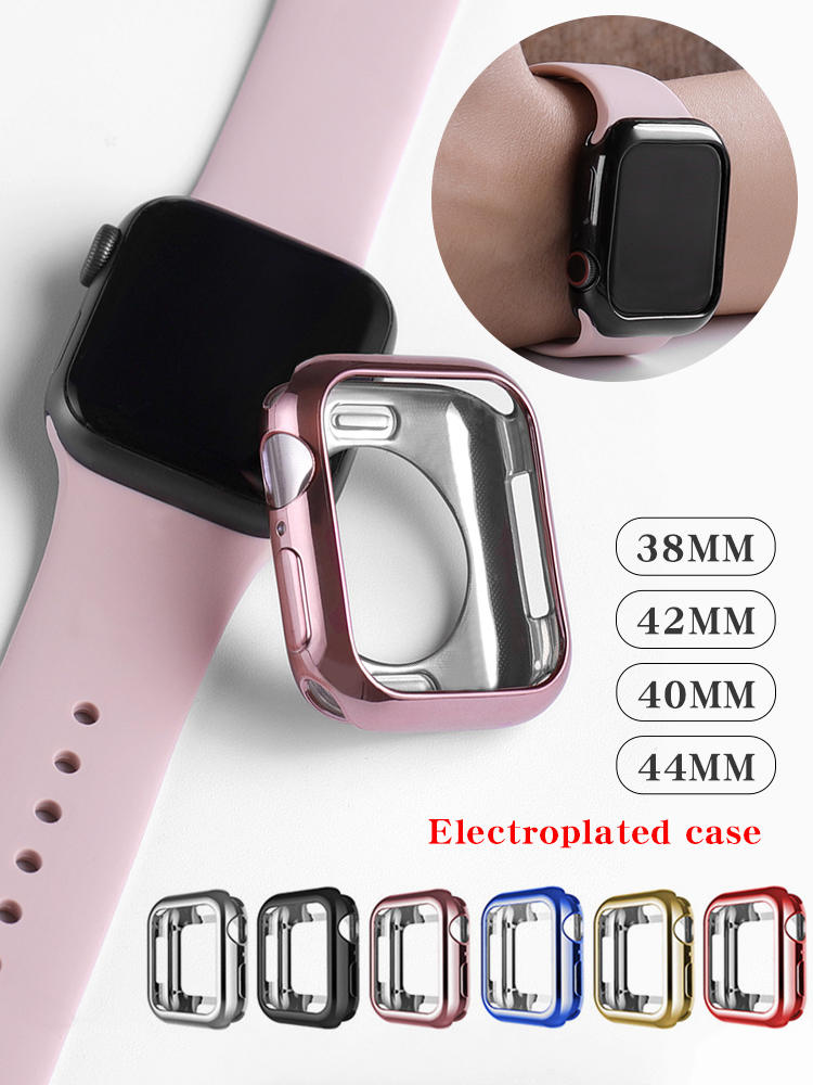 Watch-Case Cover Apple 40mmaccessories Ultra-Thin-Plated for 4-3/2-1 42MM 38MM Soft Transparent