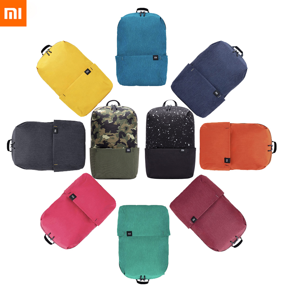 2018 New Xiaomi Colorful Mini Backpack Bag 8 Colors Level 4 Water Repellent 10L Capacity 165g Weight YKK Zip Outdoor Smart Life