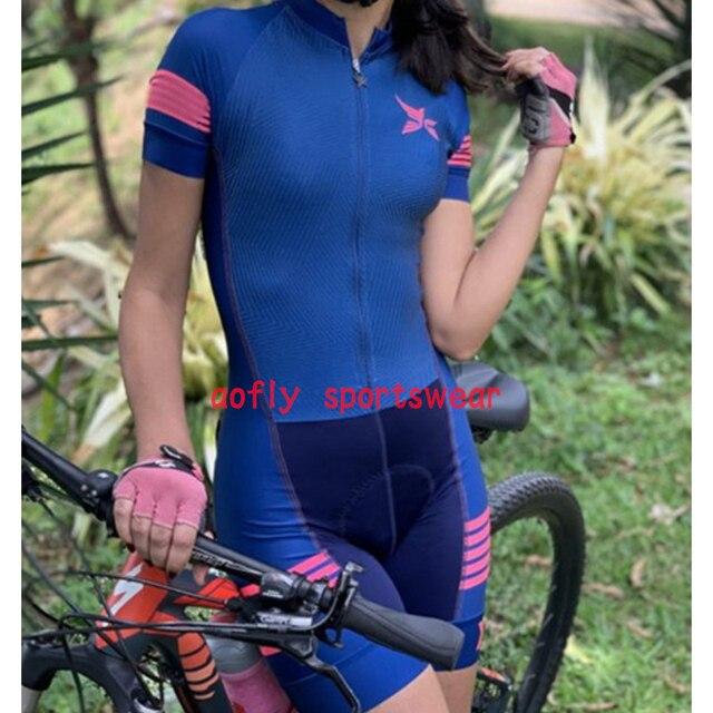 Xama roupas de manga curta das mulheres ciclismo triathlon terno roupas ciclismo conjunto skinsuit maillot ropa ciclismo macacão 4