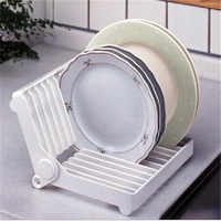Dish Plate Drying Rack Organizer Drainer Plastic Storage Holder White Kitchen Organizer Free Shipping Dish rack