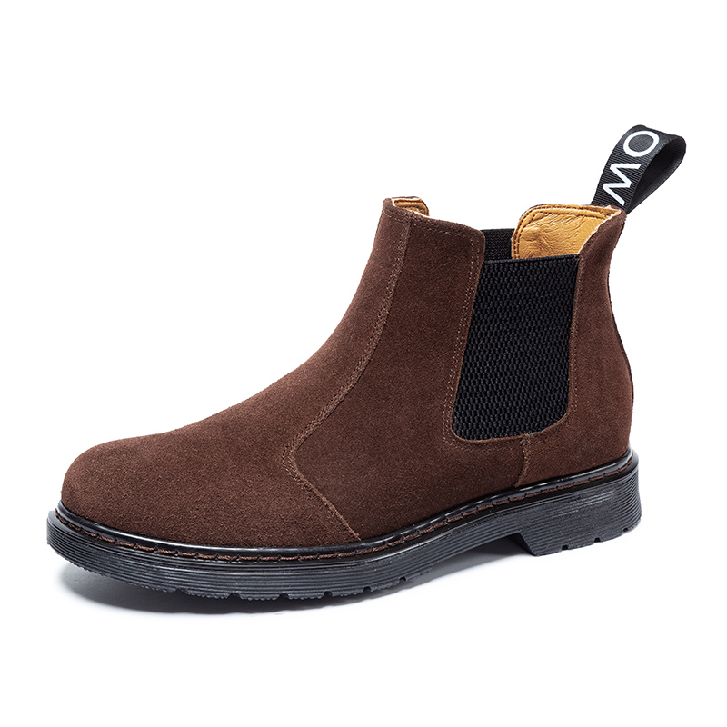 British style mens casual big size cowboy boots natural leather tooling shoes platform chelsea boot outdoors ankle bota zapatos