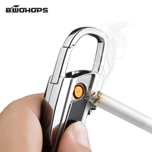 USB Keychain Lighter Flameless Classic Pocket Mini Light Portable Outdoor Survival Tool Cigarette Accessories Smok Lighters