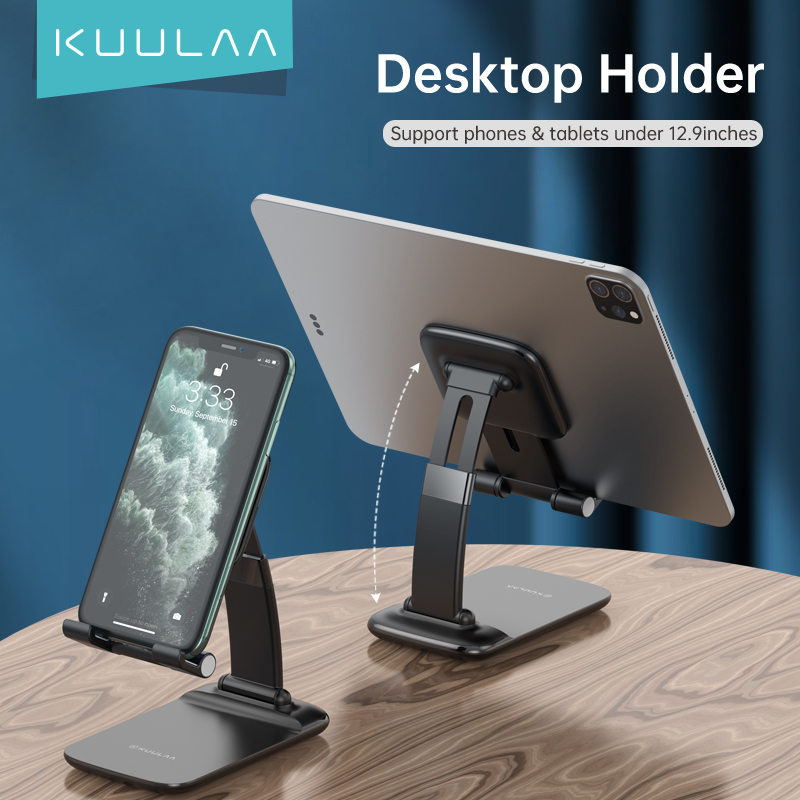 KUULAA universel téléphone tablette Support de bureau télescopique Support de bureau réglable Support de téléphone portable pour iPhone iPad Huawei