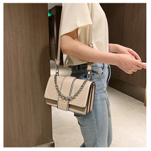 2020 new wave Korean version of the shoulder Messenger bag foreign fashion small square bag Ins super fire small chain bag femal princess sweet lolita bag small square female satchel bag ins super fire real leather fashion wrapped shoulder bag ensso 116