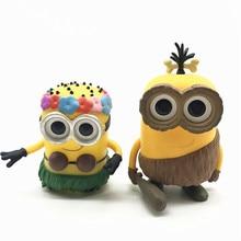 цена на Movies Minions Paradise Minion Phil CRO MINION HULA MINION KING BOB model toy Vinyl Action Figures Collectible Model Toy