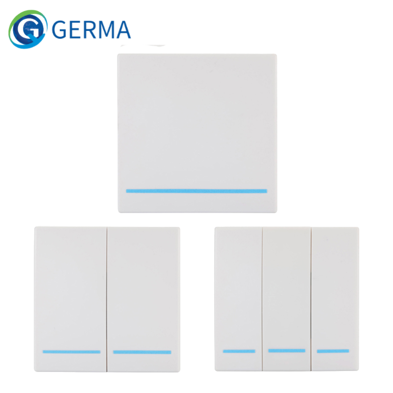 Универсальный беспроводной пульт дистанционного управления GERMA 433 МГц 86 настенный передатчик радиочастотный приемник 1 2 3 кнопки для домашн...