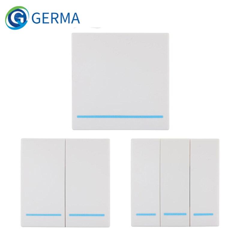 GERMA 433MHz télécommande sans fil universelle 86 panneau mural RF émetteur récepteur 1 2 3 bouton pour commutateur de lumière de pièce à la maison | AliExpress