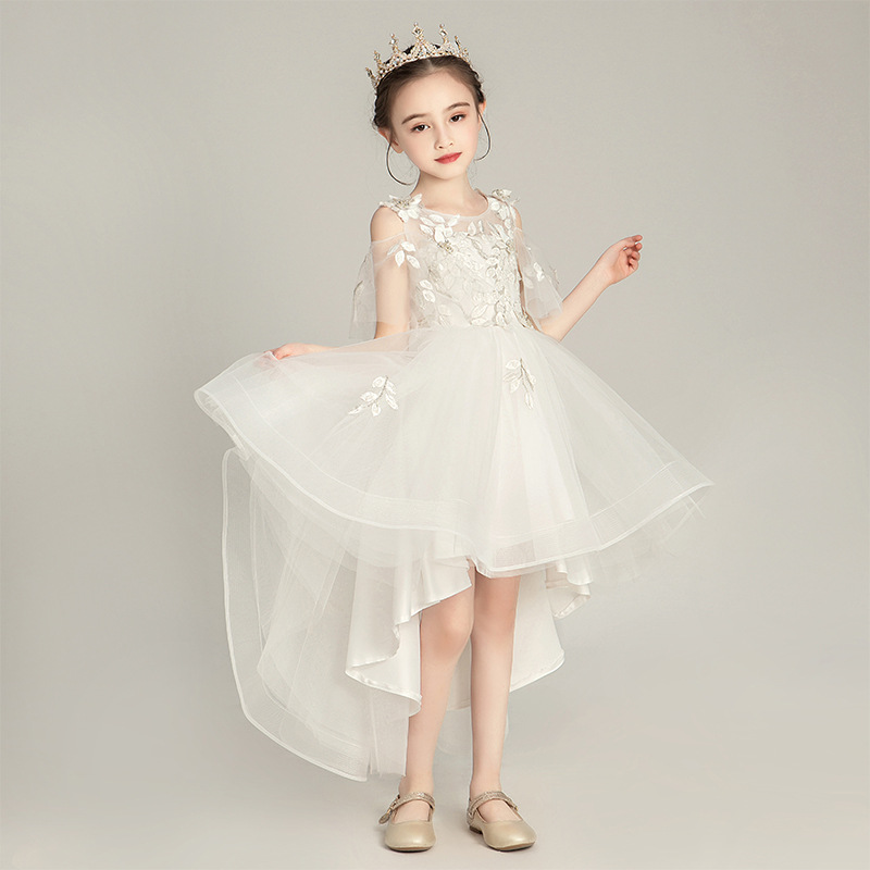 Girls Western Style Wedding Dress Princess Dress Flower Boys/Flower Girls Puffy Yarn Children Small Host Formal Dress GIRL'S Pia