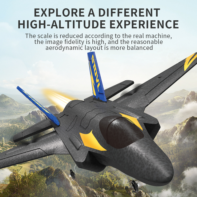KF605 KFPLANE Fighter 2.4G 4CH 6-Axis Gyroscope Automatic Balance 360 Rollover EPP RC Glider Airplane RTF Electric RC Aircraft 2