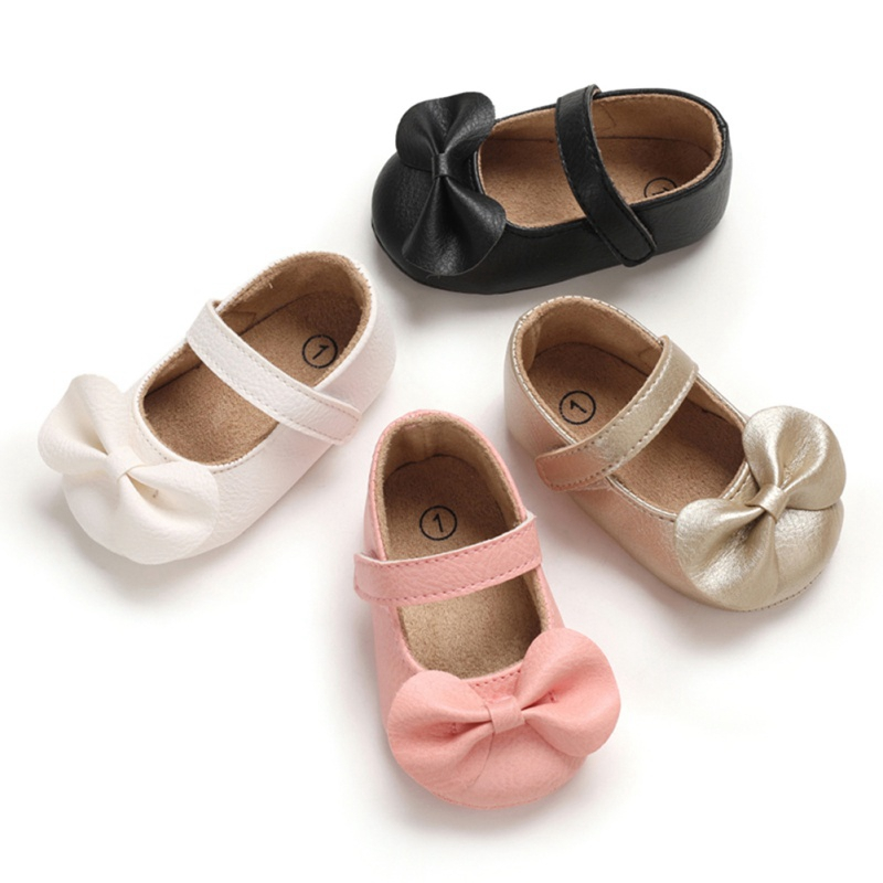 Newborn Baby Shoes Pu Leather Moccasin First Walkers Toddler Prewalker Anti-Slip Princess Shoes Baby Girl Shoes